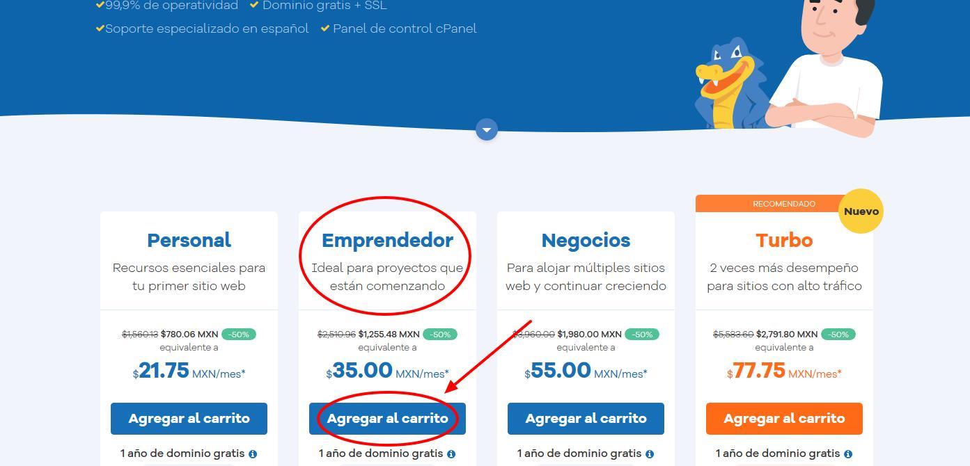 cupones hostgator mexico - cúpon hostgator mexico - Cómo contratar Hostgator Mexico 2