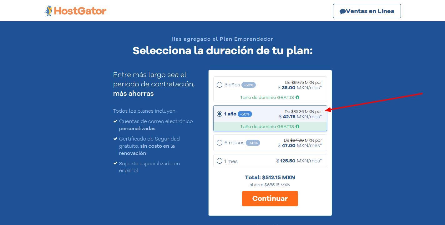 cupones hostgator mexico - cúpon hostgator mexico - Cómo contratar Hostgator Mexico 3