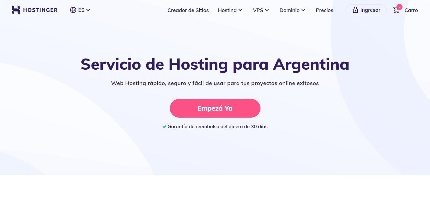 cupones hostinger argentina descuentos - Hosting Argentina Rápido y Potente (1)