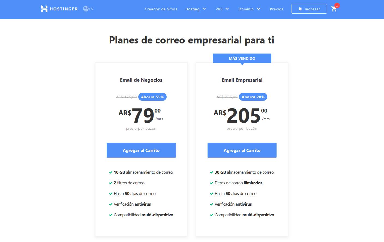 cupón hostinger argentina -