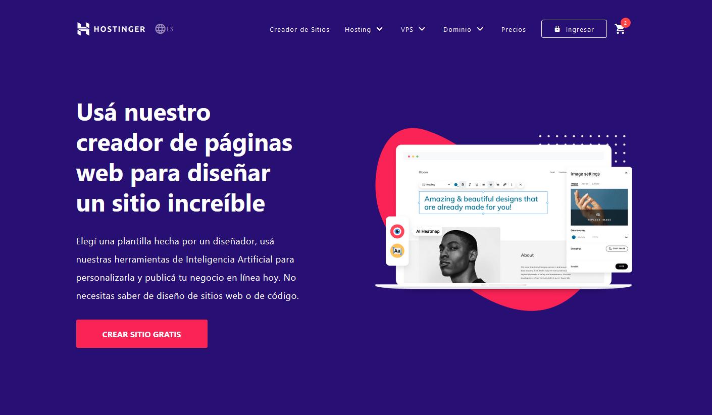 cupones hostinger argentina descuentos - Hosting Argentina Rápido y Potente - creador de sitios