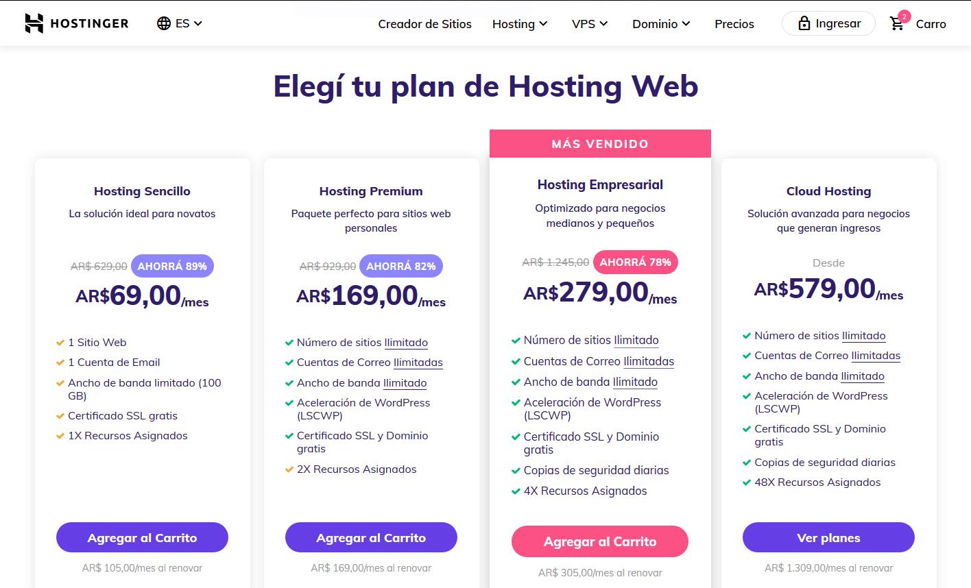 cupón hostinger argentina - cupones hostinger argentina descuentos - Hosting Argentina Rápido y Potente (9)