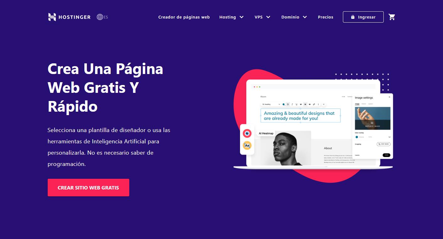 cupón hostinger colombia - hosting creador de sitios
