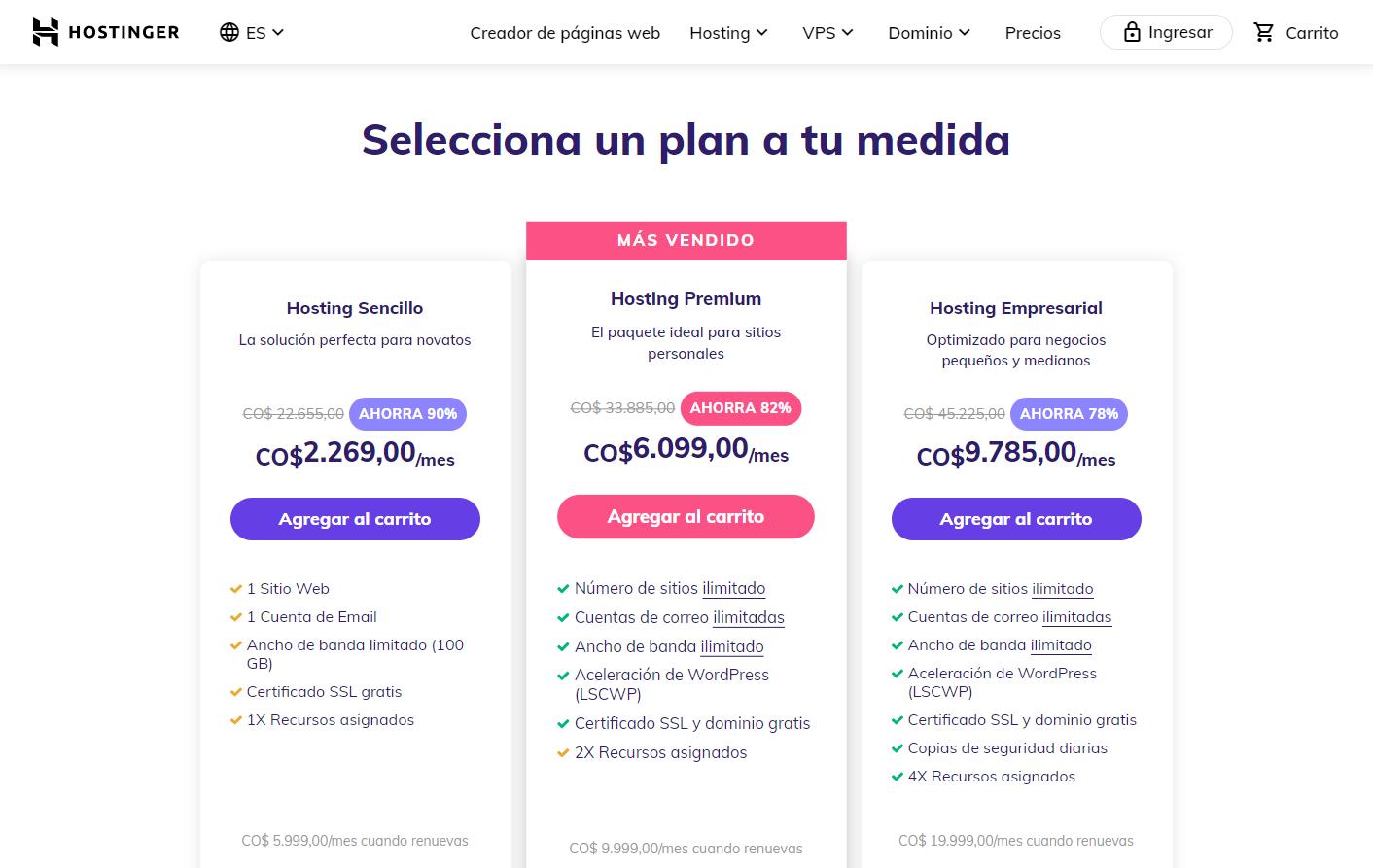 Cupones Web Hosting - cupón hostinger colombia 23