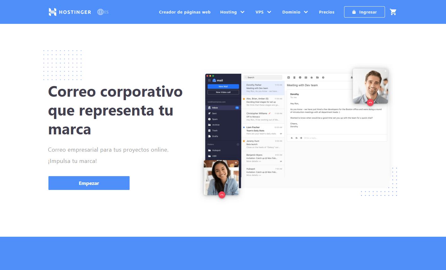 cupón hostinger colombia - hosting correo eletronico