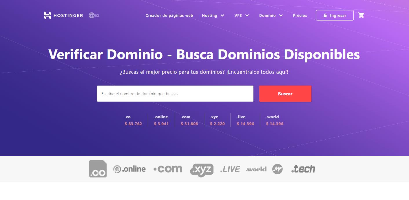 cupón hostinger colombia - dominios