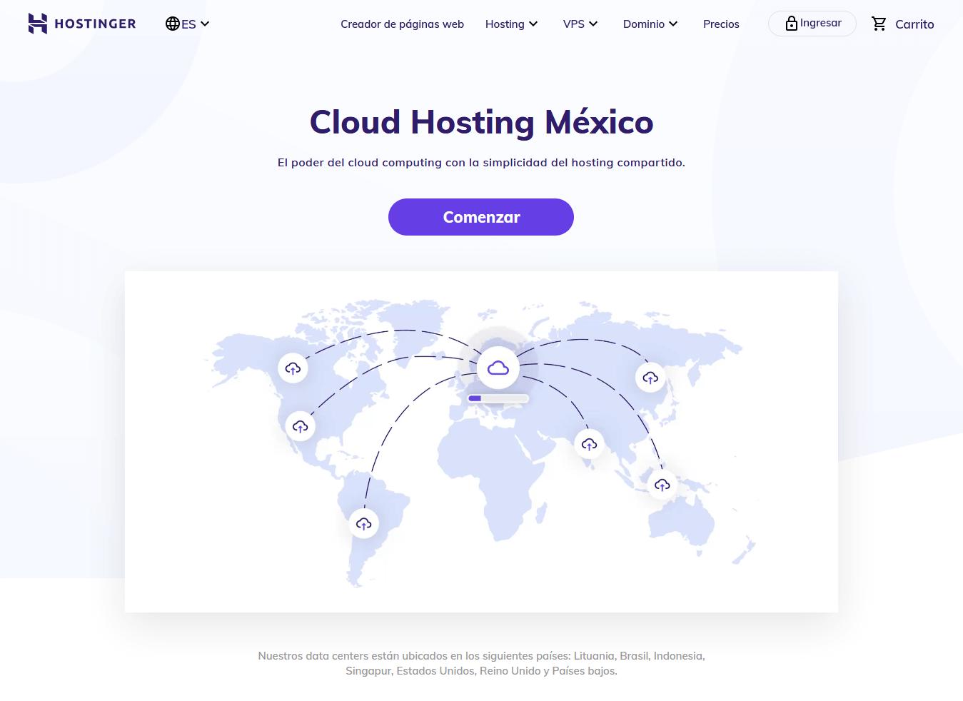 cupones hostinger mexico - cupón hostinger mexico - Cloud Hosting México Aloja +200 Sitios Por MX$129 Mes 1