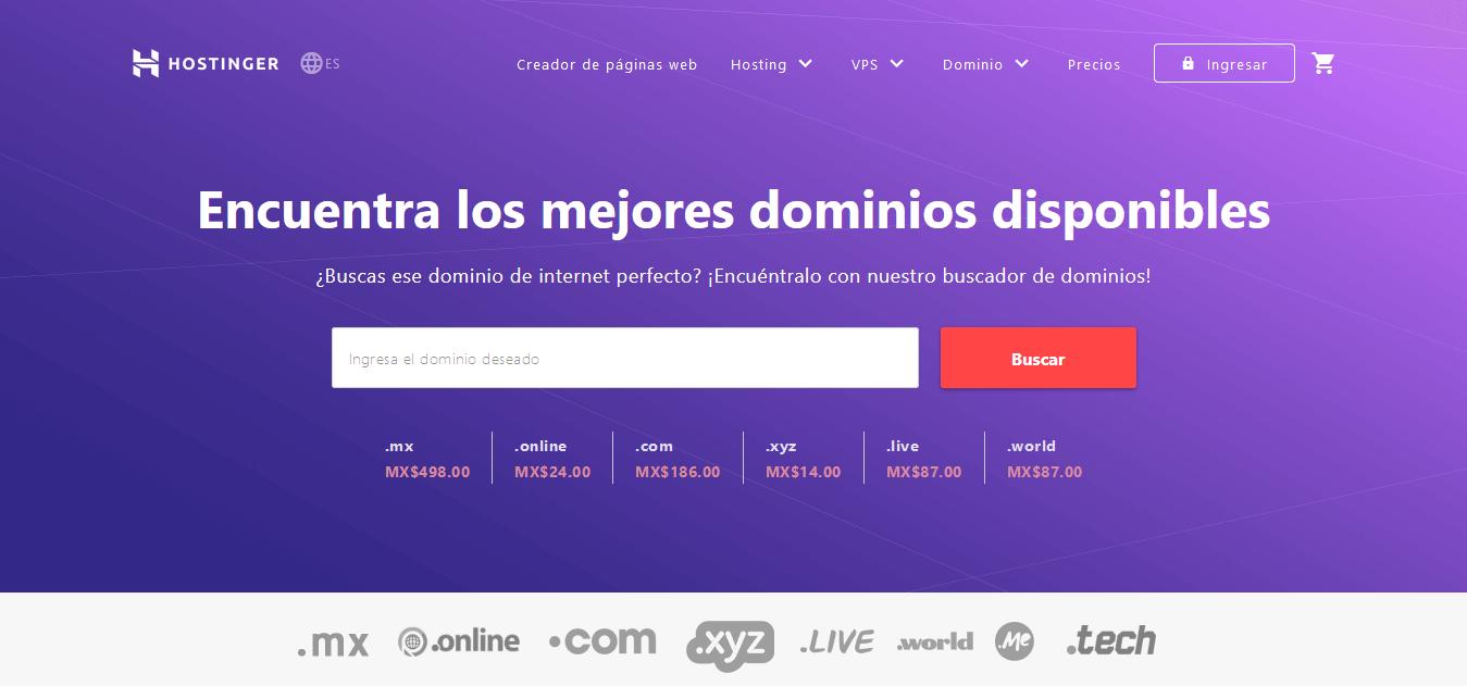 cupones hostinger mexico - cupón hostinger mexico - Dominios de Internet ¡Nombres de Dominio al Mejor Precio
