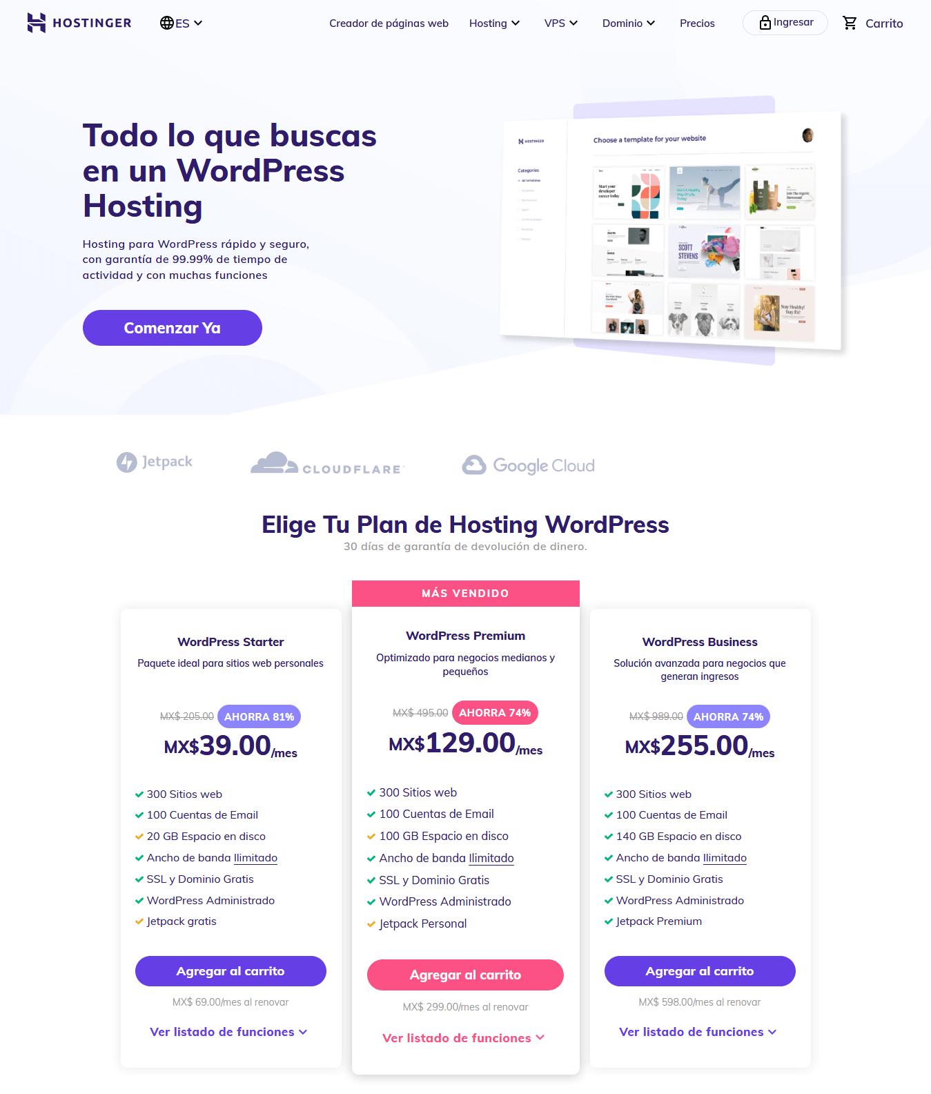 cupones hostinger mexico - cupón hostinger mexico - WordPress Hosting Desde MX$15