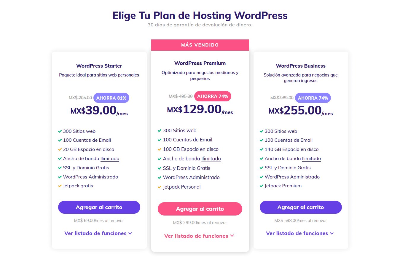 cupones hostinger mexico - cupón hostinger mexico - WordPress Hosting Desde MX$152