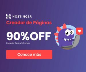 cupón hostinger colombia - creador de paginas banner