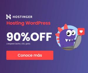 cupones hostinger - hosting wordpress banner